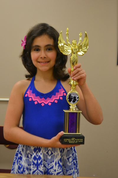 Liza, Top Female winner at 2016 Juneteenth Scholastic Championships