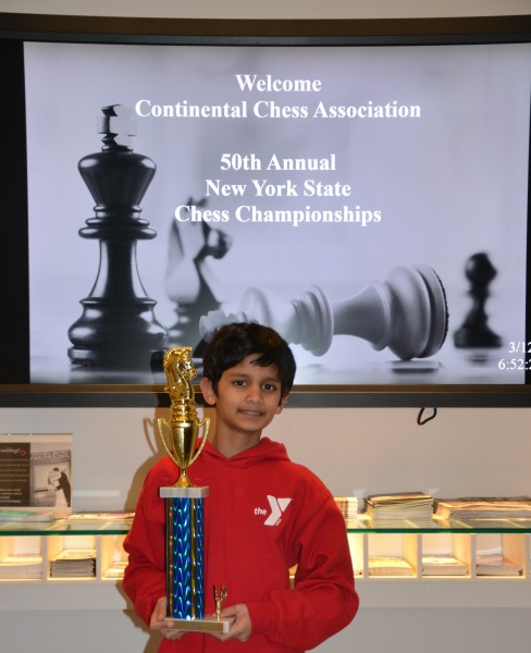 Shaan, winner at the 50th Annual NYS Chess Championships